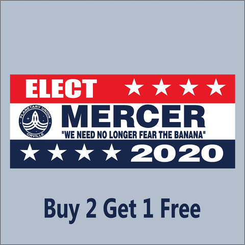 The Orville Mercer for President 2020 - Indoor/Outdoor Bumper Sticker - GoGoStickers.com