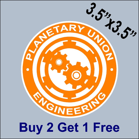 The Orville Planetary Union - Engineering Patch Sticker - Ed Mercer - Seth MacFarlane