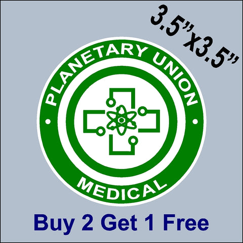 The Orville Planetary Union - Medical Patch Sticker - Ed Mercer - Seth MacFarlane - GoGoStickers.com