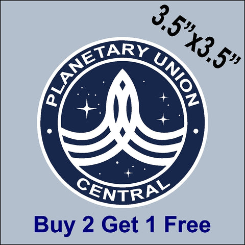 The Orville Planetary Union - Central - Indoor/Outdoor Sticker - GoGoStickers.com