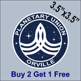 "The Orville Ultimate Fan Patch Kit - Indoor/Outdoor Sticker 3.5"" or 2"" - GoGoStickers.com"
