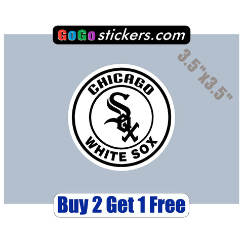 "Chicago White Sox - Small Logo v1 - 3.5""x3.5"" - Sticker"