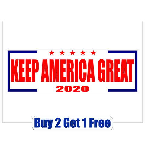 ReElect DONALD TRUMP 2020 Keep America Great - Bumper Sticker - MADE IN USA - Red, White & Blue