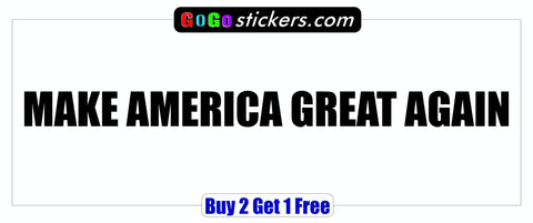DONALD TRUMP 2016 - Visor Sticker - MAKE AMERICA GREAT AGAIN - GoGoStickers.com