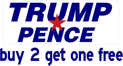 "TRUMP PENCE 2016 - Bumper Sticker - 3.5""x9"" Donald - GoGoStickers.com"