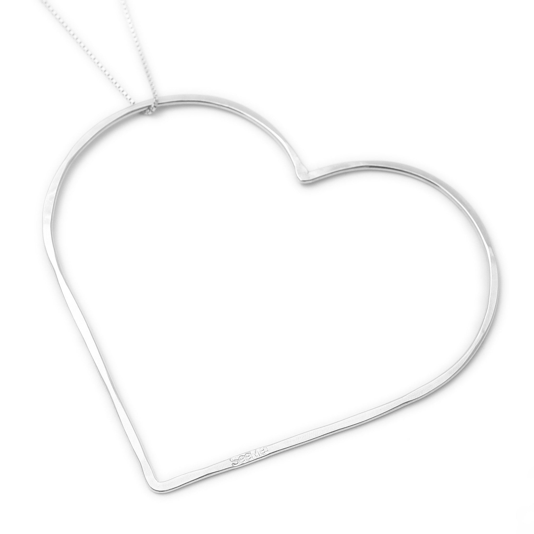 Alma seeme meaningful jewelry big heart necklace seeme jewelry and accessories 2 aloadofball Gallery