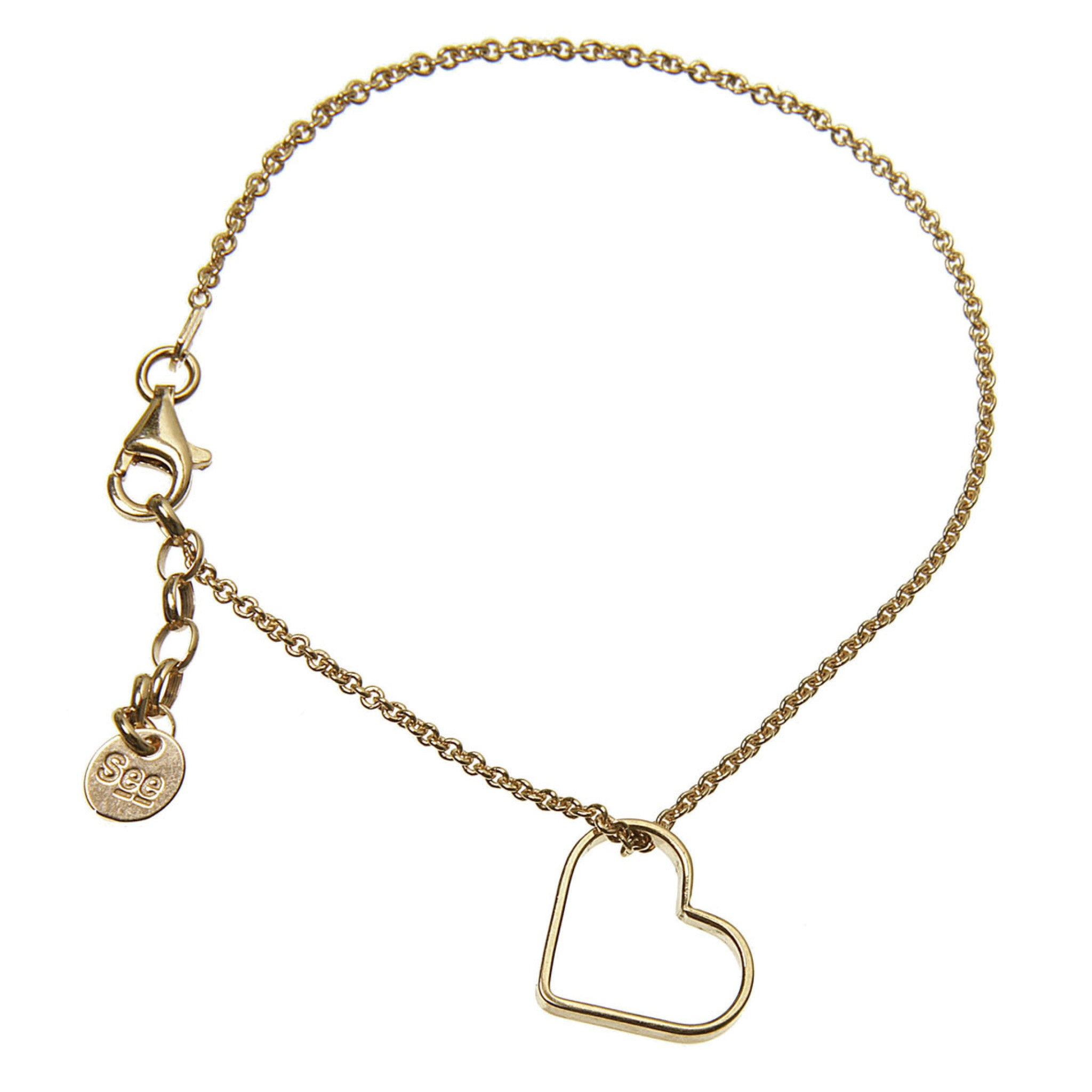 heart jewelry products plush ocelle mini gold bracelet dual
