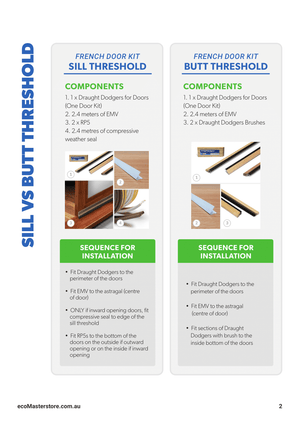 French Doors Draught Proofing Kit - PDF Draught Proofing Guide