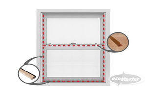 Premium Double-Hung/Sash Windows Draught Proofing Kit