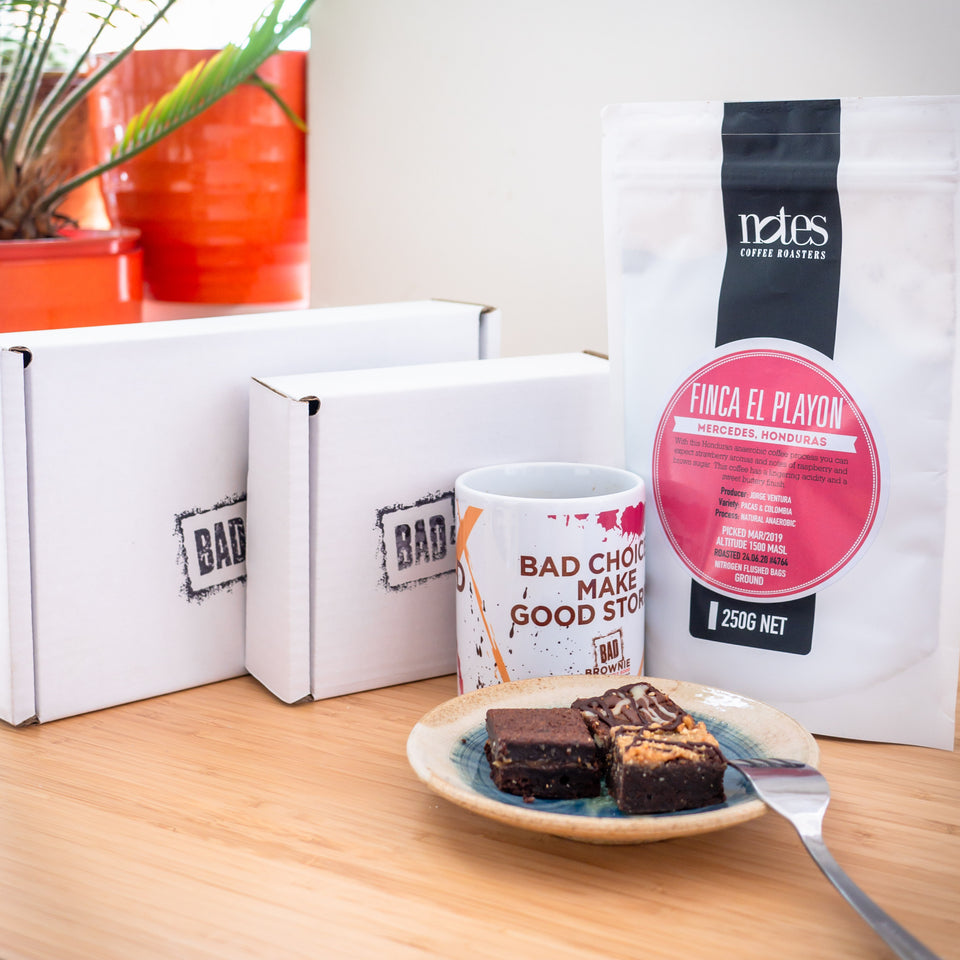 24 bite brownie box & coffee bundle