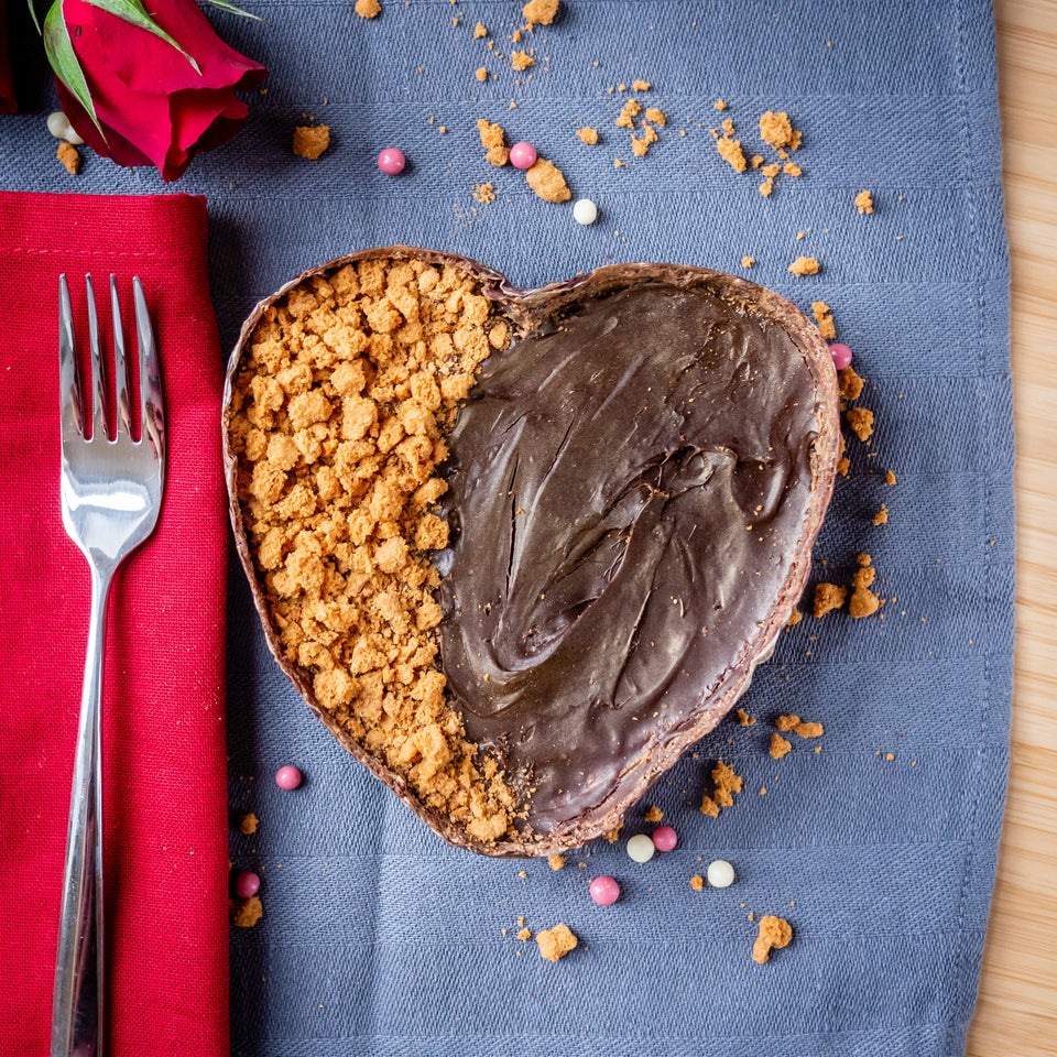 Chocolate Brownie Heart - Biscoff