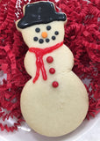 Snowman Sugar Cookie