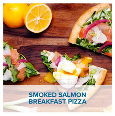 Gluten Free Smoked Salmon Breakfast Pizza
