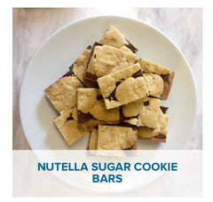 Nutella Sugar Cookie Bars