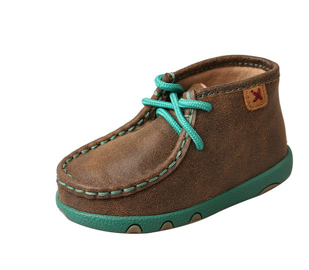 Twisted X Infant and Toddler Bomber and Turquoise Driving Mocs ICA0008