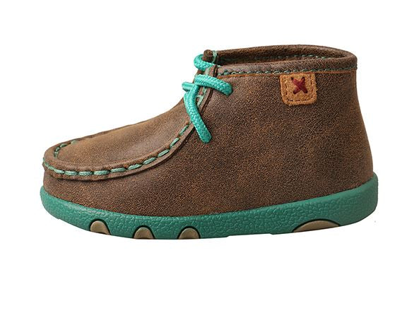 Twisted X Infant/ Toddler Bomber and Turquoise Driving Mocs ICA0008 - Painted Cowgirl Western Store