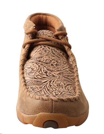 Twisted X Women's Bomber & Nude Tooled Driving Moc WDM0080