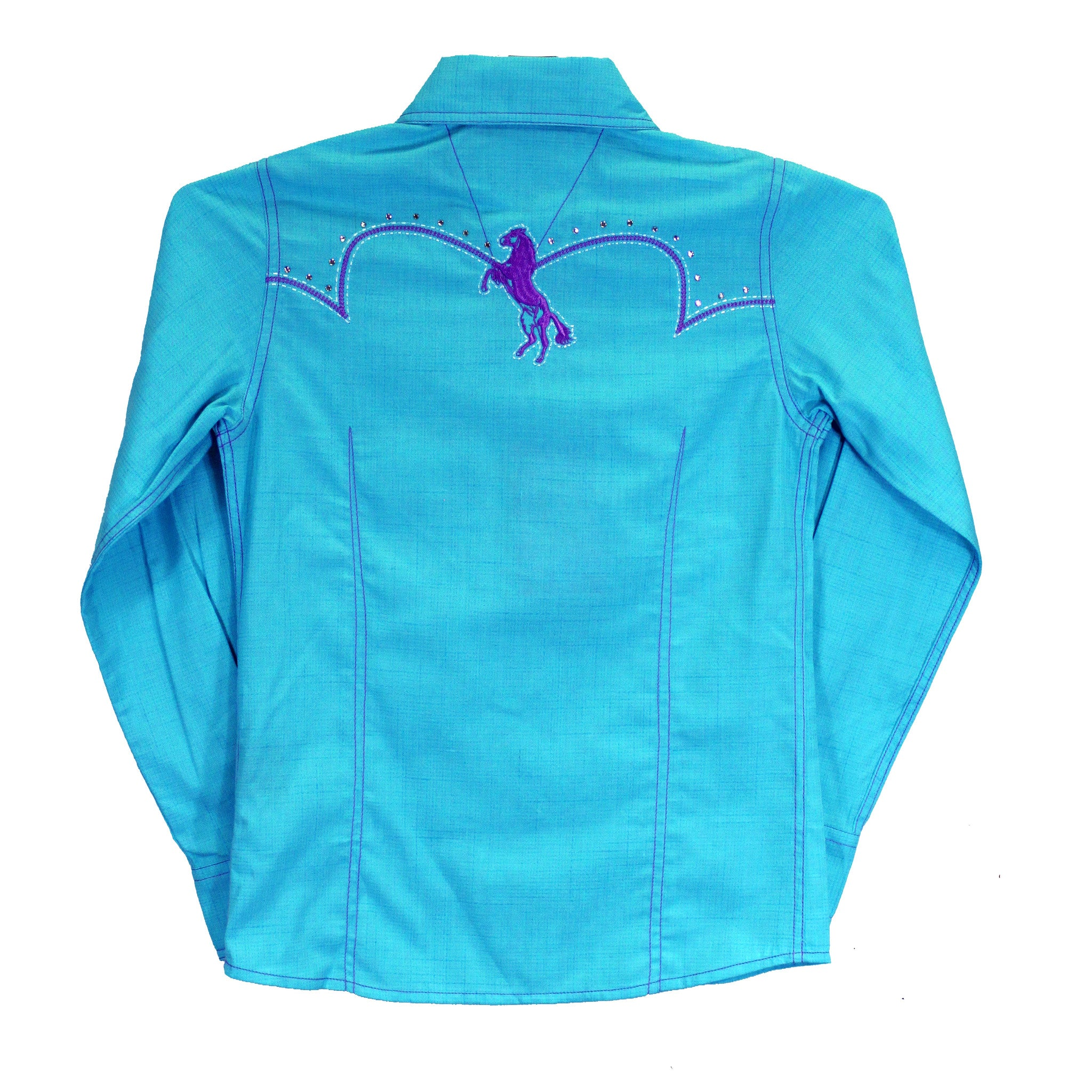 Cowgirl Hardware Infant Toddler Turquoise/Purple Show Shirt 825322-I2