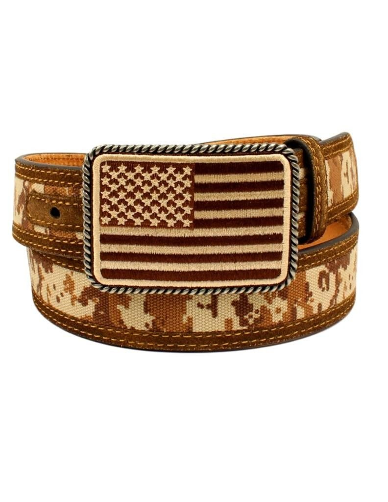 Ariat Men's Digital Camo Strap Aged Bark Overlay Belt A1030844