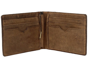 STS Ranchwear Brown Leather The Foreman's Hidden Money Clip Wallet STS61055