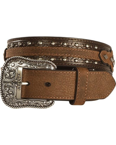 Ariat Men's Austin Brown Leather Belt A10004269