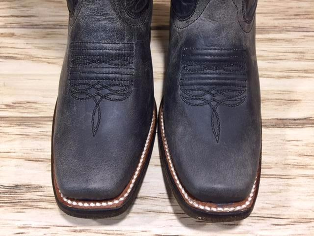 Load image into Gallery viewer, Corral Kid's Distressed Black Square Toe Western Boots E1311