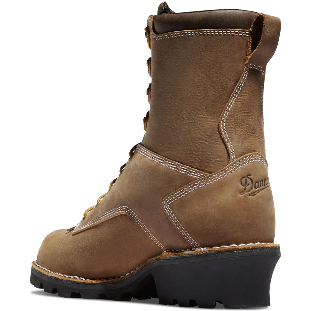 "Danner 8"" Brown Logger Lace Up Work Boot 15439"
