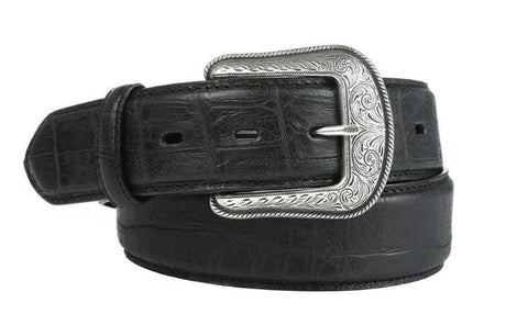 Ariat Men/'s Turquoise Multi Feather Brown Leather Scroll Belt A1034008