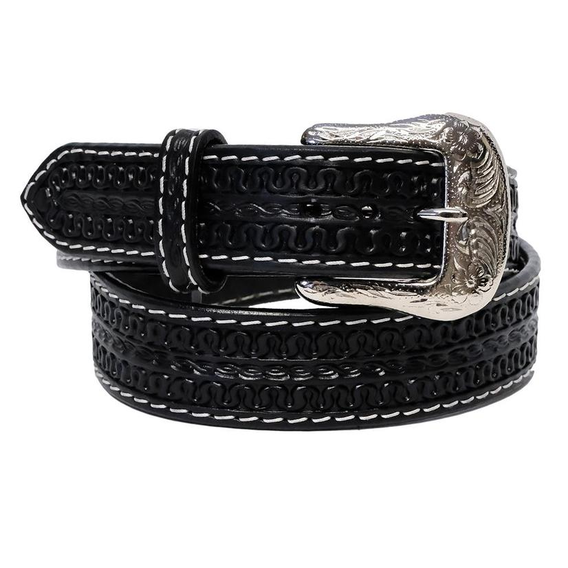 Twisted X Men's Black Serpent Pattern Leather Belt XB-700