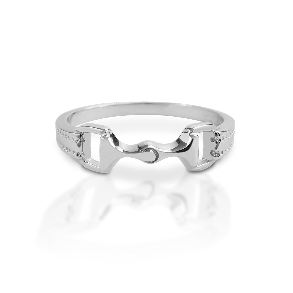 Load image into Gallery viewer, Kelly Herd 6mm Sterling Silver Bit Ring S2T00000