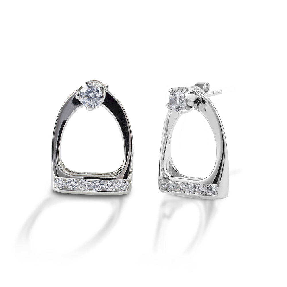 Kelly Herd Stud Earrings with Large English Stirrup Jackets 13H00000