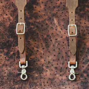 Allegheny Leather Men's Brown Leather Suspenders 5750 - Painted Cowgirl Western Store