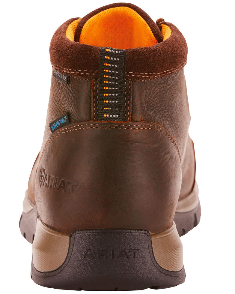 Ariat Men's Edge Dark Brown Lite Waterproof Lace Up Safety Toe Moc 10024956 - Painted Cowgirl Western Store