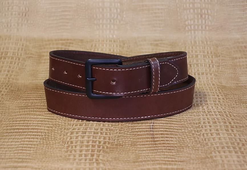 Allegheny Leather Men's Brown Leather Belt 2202