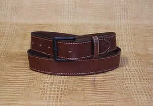 Allegheny Leather Men's Brown Leather Belt 2202 - Painted Cowgirl Western Store