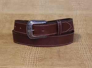 Allegheny Leather Men's Dark Brown Leather Belt 2230 - Painted Cowgirl Western Store