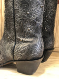 Corral Women's Black Embossed Studded Snip Toe Western Boots C3043