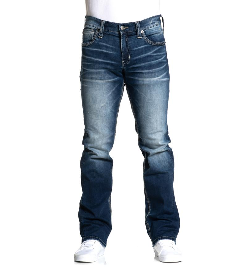 American Fighter Men's Void Olsen Dark Wash Straight Leg Jeans 331SS277 - Painted Cowgirl Western Store