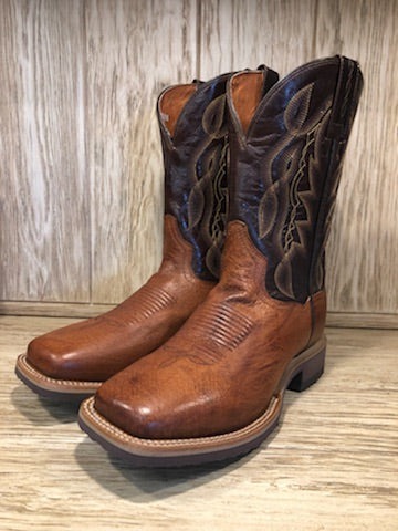 Dan Post Men's Cognac Smooth Ostrich Square Toe Western Boots DP3986