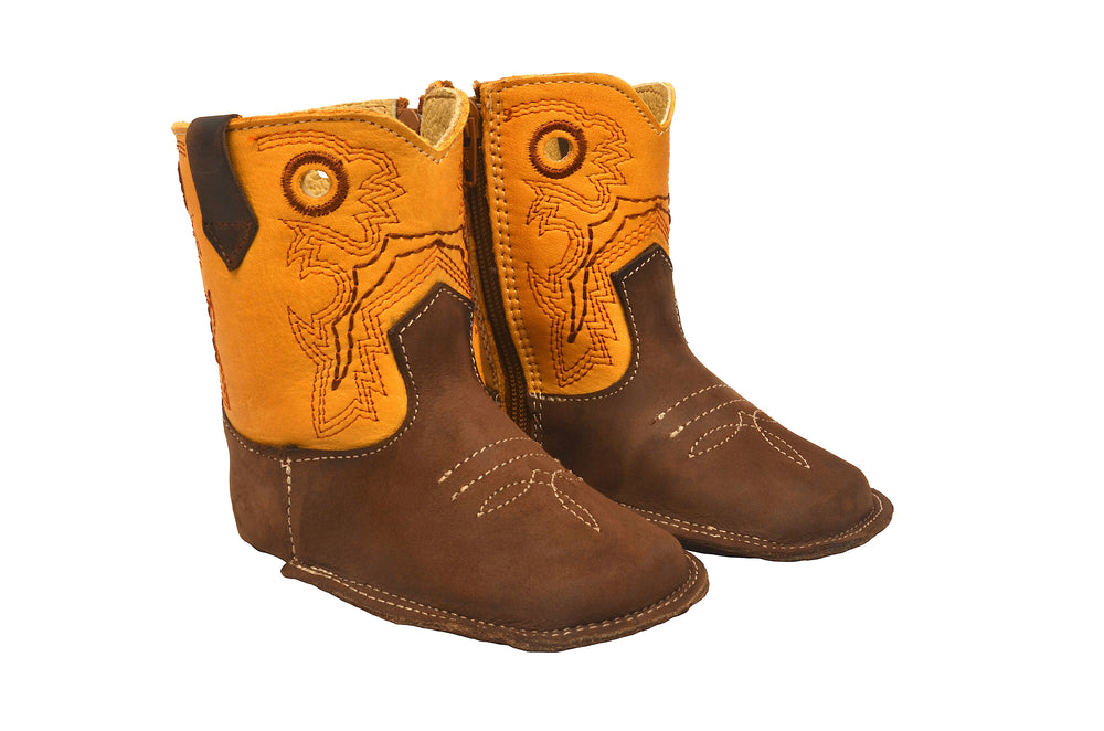 "Redhawk Infant Boy's Little Rodeos Butter 4"" Booties 410"