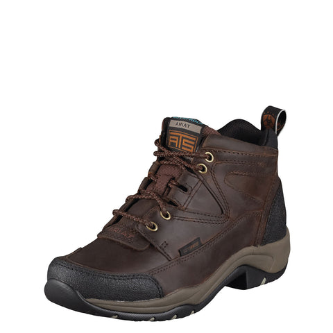 Ariat Women's Brown Terrain H2O Waterproof Lace Up Work Shoes 10004134