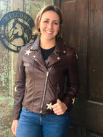 Mauritius Women's Cathleen Raisin Star Leather Leather Jacket - Painted Cowgirl Western Store