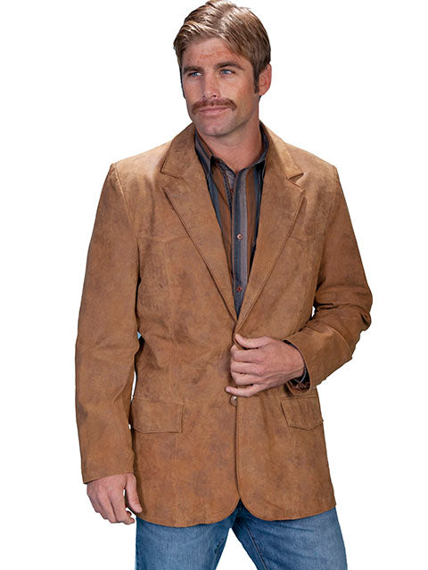 Scully Men's Maple Light Brown Leather Blazer/ Sport Coat 602