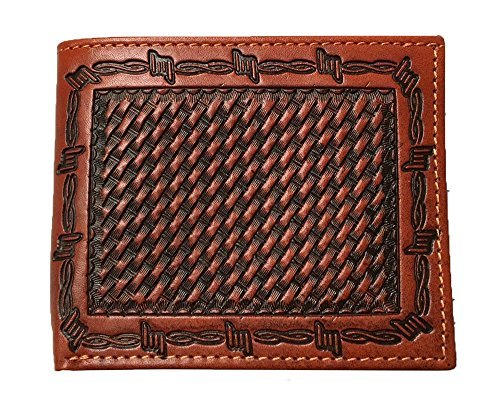 Ranger Belt Company Tan Basketweave Leather Bifold Wallet C733B - Painted Cowgirl Western Store