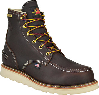 "Thorogood 6"" Briar Steel Moc Toe Waterproof Lace Up Wedge Work Boots 804-3600"