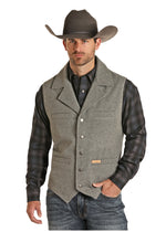 Powder River Men's Wool Snap Vest in Black, Brown, or Tan 98-1176 98X1176