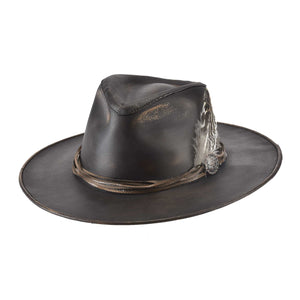 Bullhide ONE-OFF Aussie Collection Chocolate Leather Hat 4084CHD - Painted Cowgirl Western Store