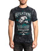 Affliction Men's Native Rye Black And Charcoal Lava Tint Short Sleeve Tee A23540