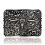 Montana Silversmiths Attitude Antiqued Longhorn Buckle A828