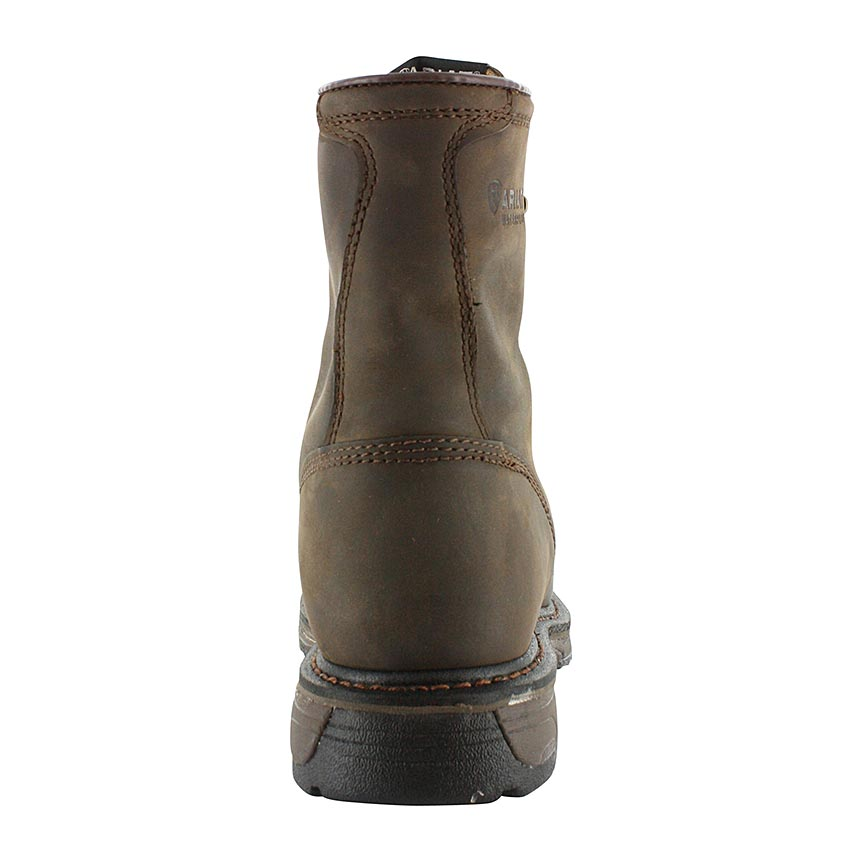 "Load image into Gallery viewer, Ariat Men's 8"" Brown Workhog Waterproof Work Boots 10011939 - Painted Cowgirl Western Store"